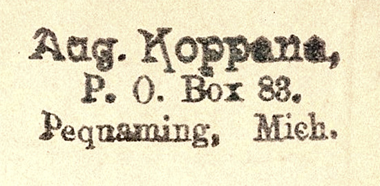 Bookstamp of the first Koppana-American