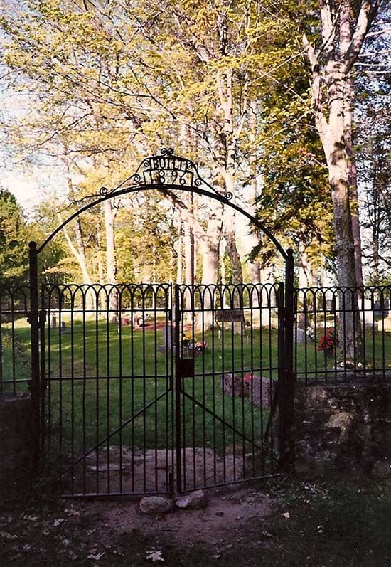 Gateway to the Pequaming Cemetery