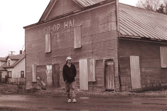 Photos of author Gerry Mantel strolling past a familiar U.P. sight during the last century, a Finnish Workers' Hall; celebrating a traditional holiday in Escanaba, MI; trying the stage of the historic Calument Theatre; exploring the site commemorating 1913's Italian Hall Disaster; and stopping on the road outside the Pequaming Cemetery--interspersed with winter scenes of Michigan's Upper Peninsula.
