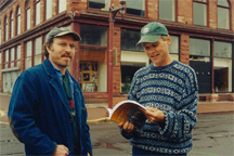 Authors Dave Engel and Gerry Mantel in downtown Calumet, Michigan