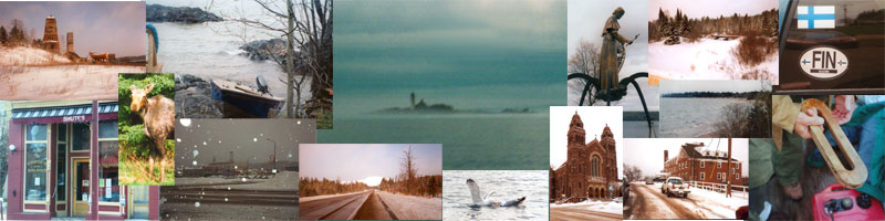 Collage of photos of Michigan's Upper Peninsula taken by Gerry Mantel, December 2007 and May 2008